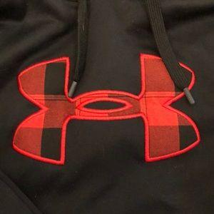 Under Armour Shirts - Under Armour Size L Black/Plaid Hoodie